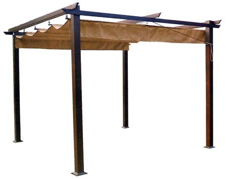 Gazebo con tetto semovente e struttura in metallo pesante for Ikea ombrelloni
