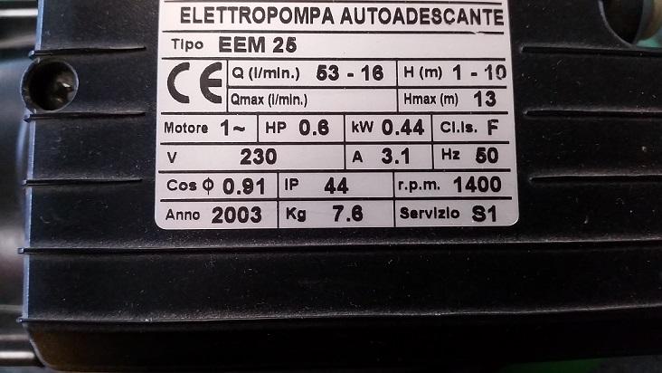 Elettropompa Tellarini EEM 25
